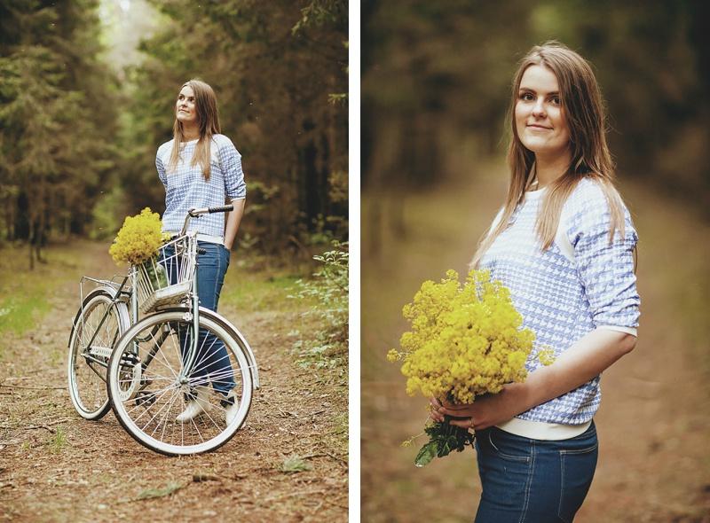 Priešvestuvinė fotosesija su dviračiu